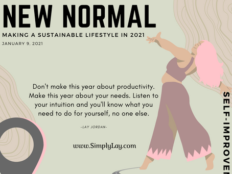 Creating a New Normal: Making a sustainable lifestyle in 2021