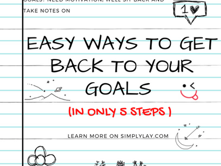 Easy steps to get back to your goals
