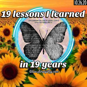 19 lessons I learned in 19 years