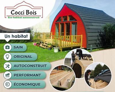 La CocciBois, un habitat sain, original, autconstruit, performant, économique