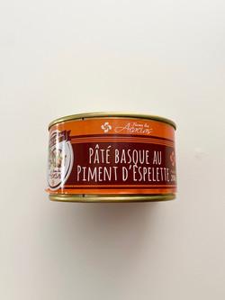 PATE BASQUE PIMENT D'ESPELETTE CONSERVE 200g