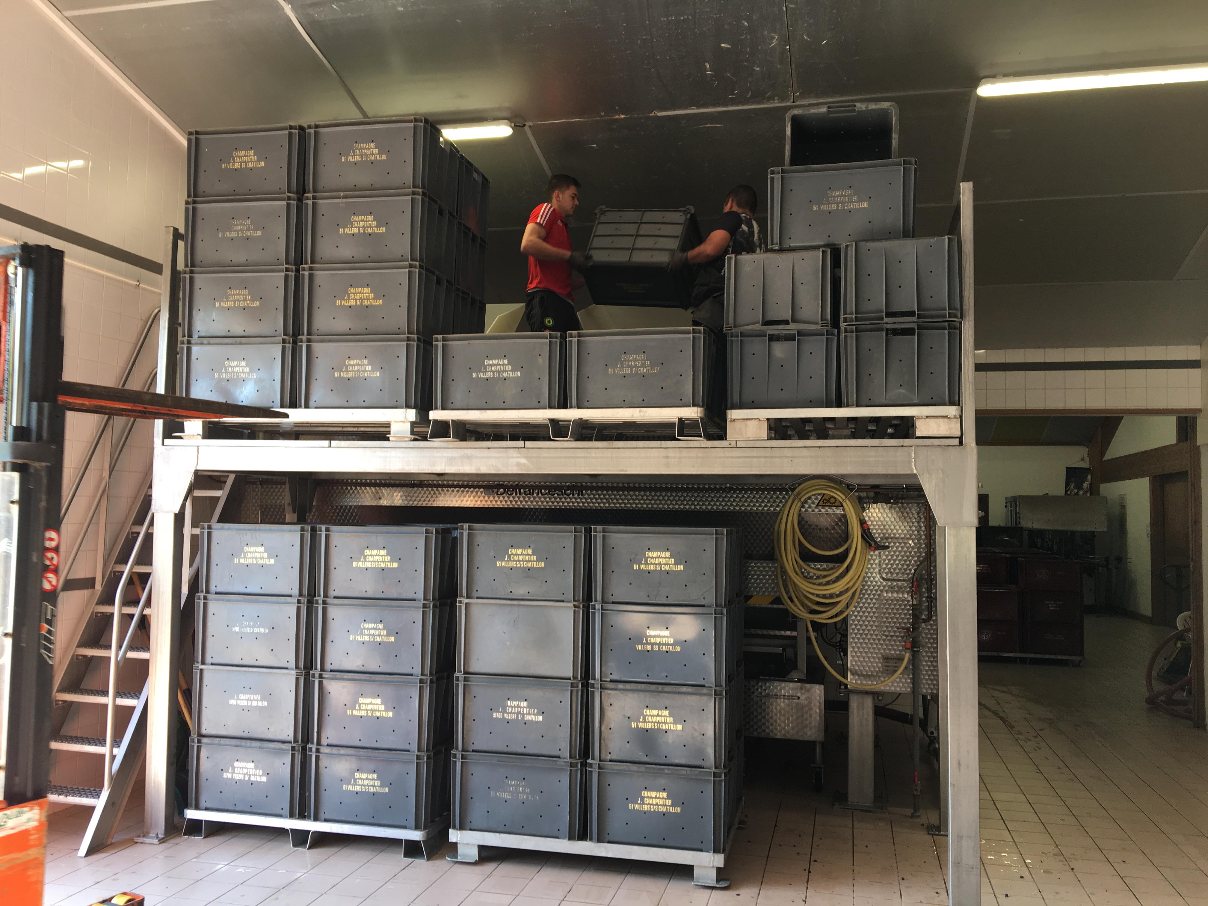 Vendanges - pressoir 4000kg