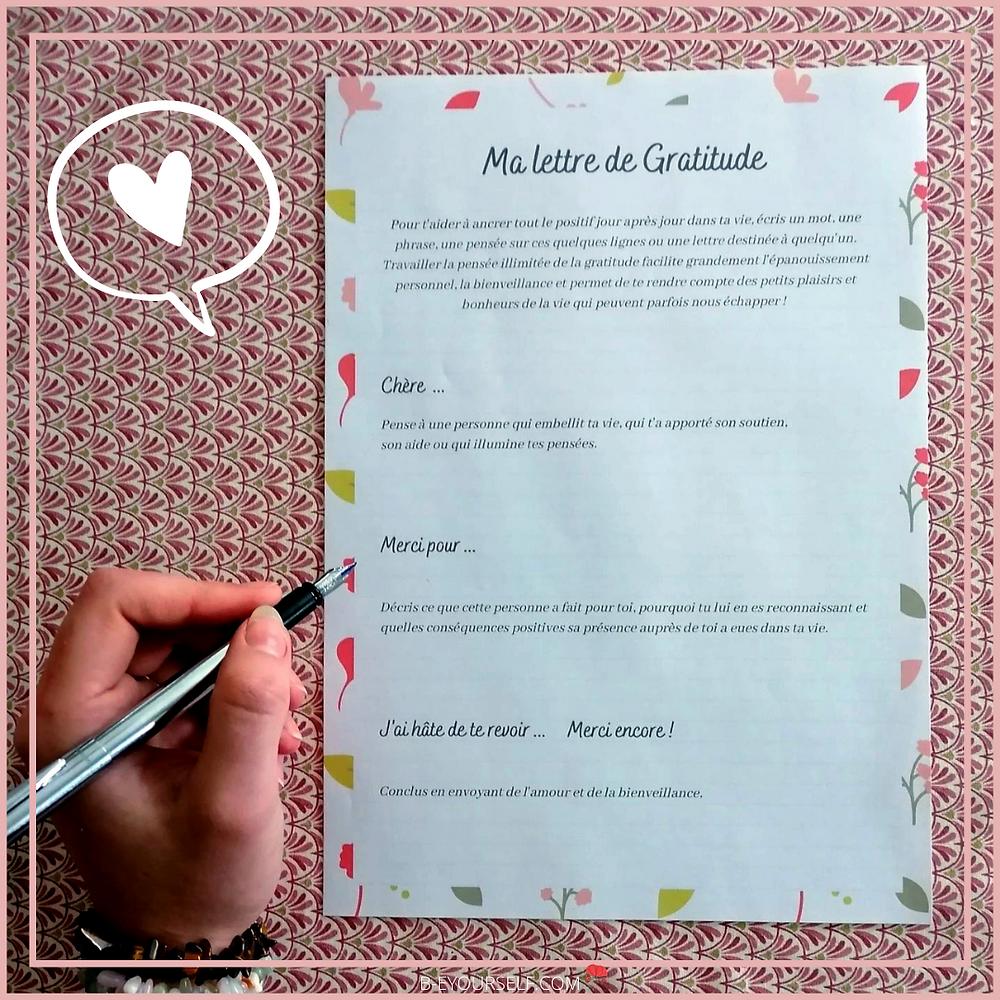 gratitude, lettre, écriture, écriture intuitive, expressive, journaling, écrire ses pensées, libérer la pensée, envoyer de l'amour, de la joie, de la bienveillance, du partage, instagram, publication