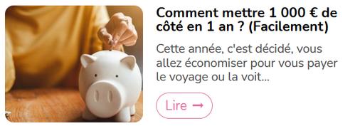 Comment mettre 1 000€ de côté en 1 an ?