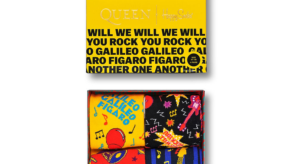 Caja calcetines Happy Socks QUEEN Ref. XQUE09-0100