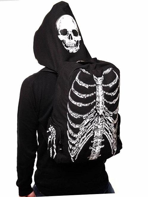 Skull Hoodie Backpack