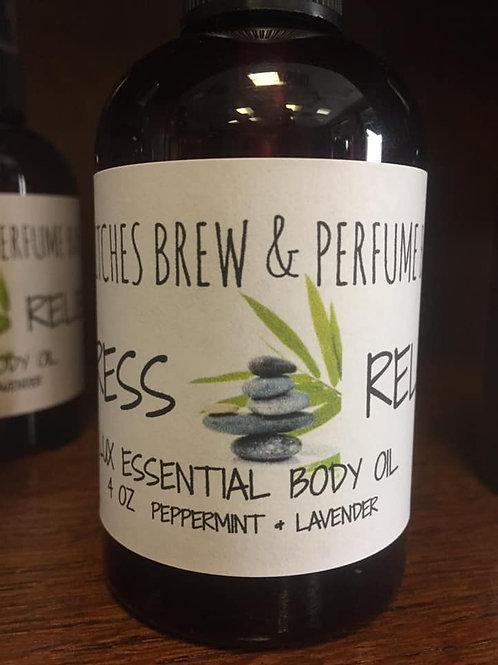 Stress Relief Essential Body Oil 4oz