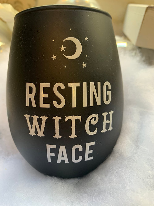 Resting Witch Face Wine Mug