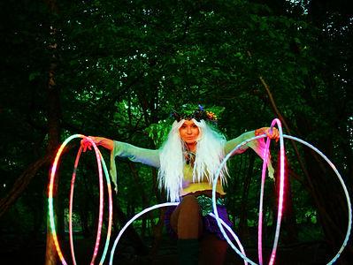 Enchanted Fairy Festival Hula Hooper Led Hula Hoops Winged Fairy Woodland