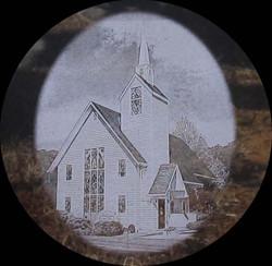 Church BW Etching