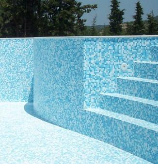 Rivestimento per piscine in mosaico ceramico