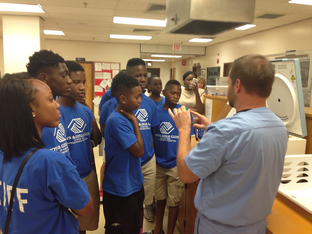 Pike County Boys & Girls Club students tour the Troy Regional Medical Center lab