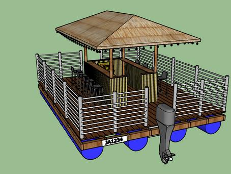 gallon boat 3d design in sketchup