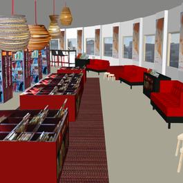 Interieurontwerp Bibliotheek Noordwijkerhout