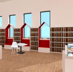 Interieurontwerp Bibliotheek Nieuwkoop