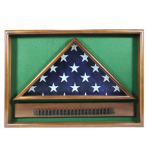 Folded Flag Case - For Larger Memorial 5' X 9.5' Flag with Cartridge Belt