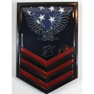 Navy Chevron Display Case