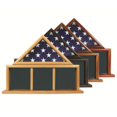 Three Bay Mantle Piece - For Larger Memorial 5' X 9.5' Flag