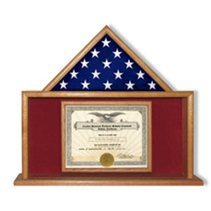 Mantle Piece for Document and Smaller 3' X 5' Flag