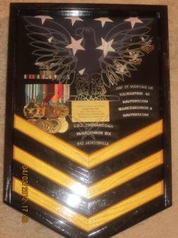 Navy Display Case