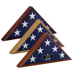 Flag Display Case - Veteran - For Larger 5' X 9.5' Flag