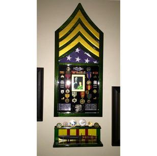 Army Box with Knife Shelf