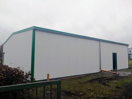 Das neu errichtete Gebäude