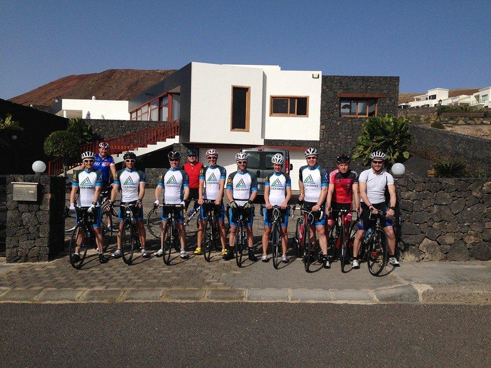Group photo before BIke