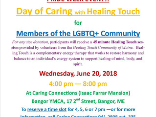 Day of Caring With Healing Touch for Bangor PRIDE week