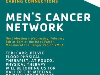Men's Cancer Network meeting for Feb.