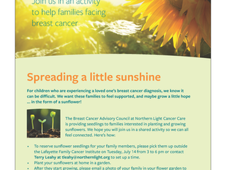 Spreading a little sunshine: an activity for families facing breast cancer