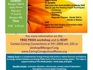 Healing Touch Workshop for Bangor PRIDE week