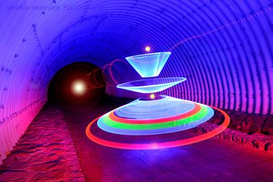 Lightpainting UFO