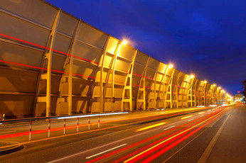 Schallschutzmauer Flughafen Frankfurt