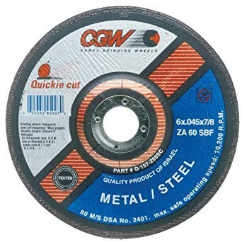 6 x .045 x 7/8 Cut Off Wheel (25EA)