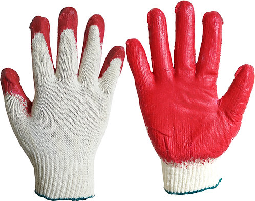 Red Latex Coating Glove