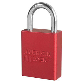 Red Lockout Padlock