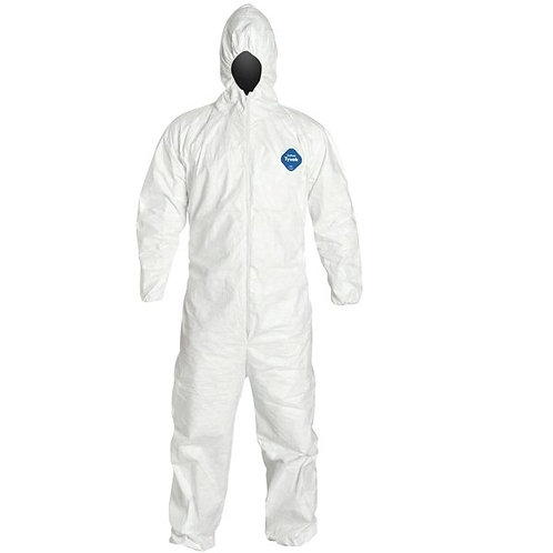 Disposable Coverall With Hood And Elastic (25EA/CS)