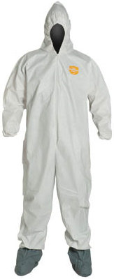 Disposable Coverall With Hood And Boots (25EA/CS)