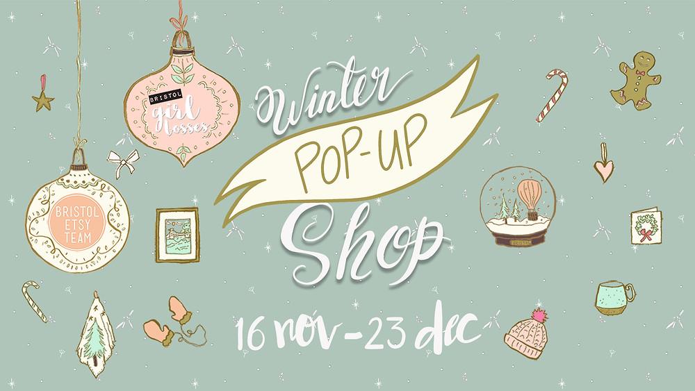 Winter Pop Up shop flyer