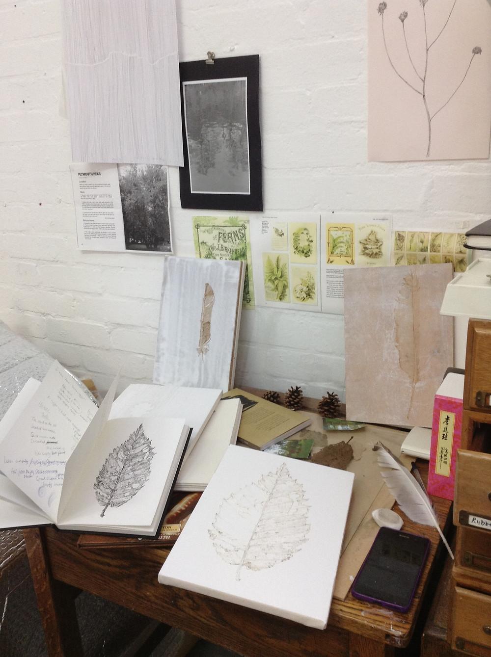 Studio, desk image.