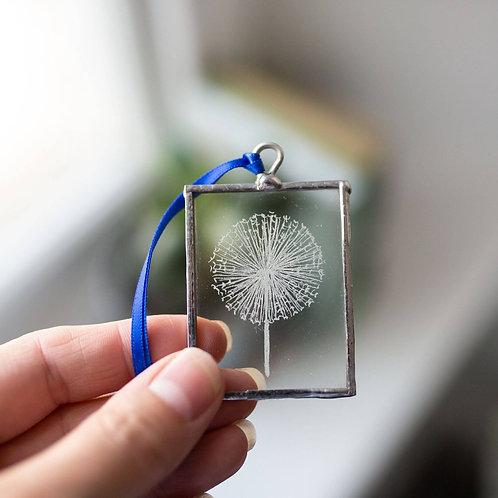 Dandelion // Glass decoration // Tree Decoration