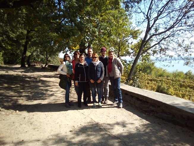The group on Badacsony hill