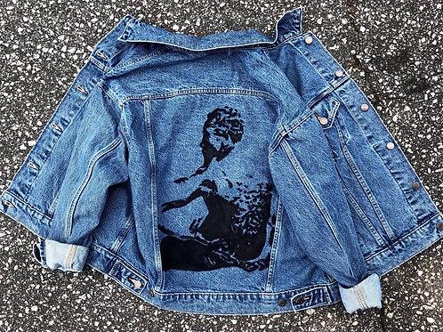 Juneteenth Hand Painted Denim Jacket