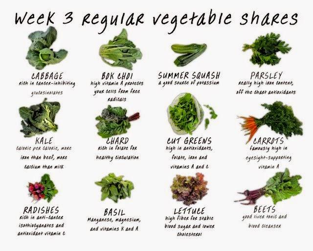 veggies chart