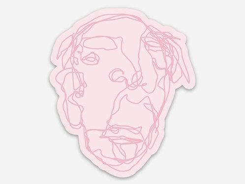 Pink Grandpa Sticker - 2.5 x 3 inches