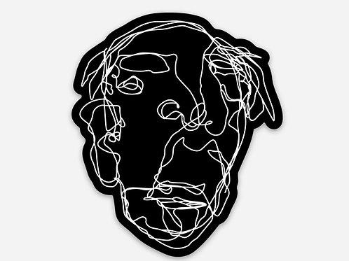 Black Grandpa Sticker - 2.5 x 3 inch
