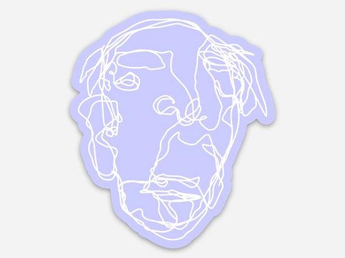 Lavender Grandpa Sticker - 2.5 x 3 inches