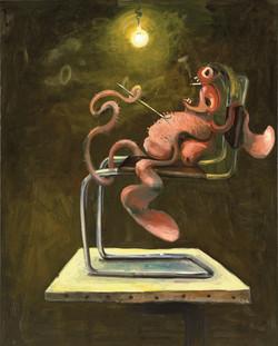 ANTON HENNING, painting monster