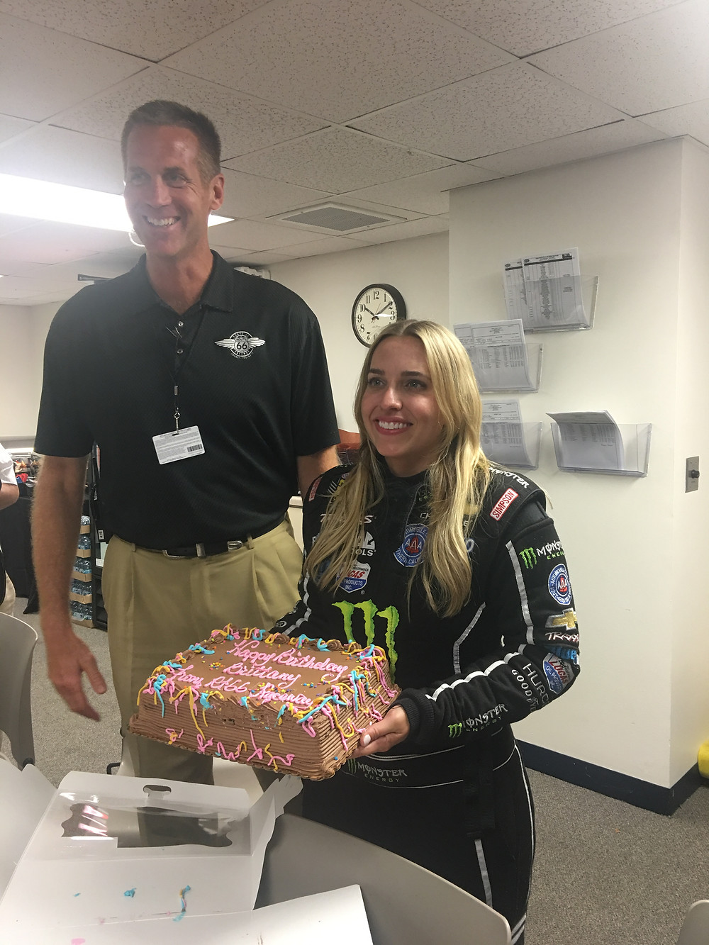 Brittany Force and Scott Paddock